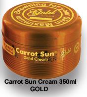 100% NATURAL CARROT SUN CREAM GOLD 350ML