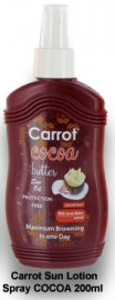 100% CARROT SUN LOTION SPRAY COCOA 200ML