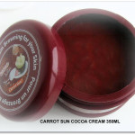 NEW Carrot Sun Cocoa Cream 350ml open