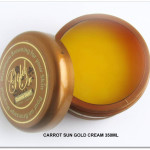 NEW Carrot Sun GOLD Cream 350ml open