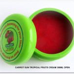 NEW Carrot Sun Tropical Fruits Cream 350ml open